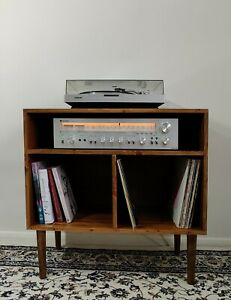 High Quality Wooden Industrial Record Player Stand, Vinyl Record Storage Cabinet