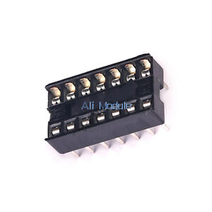 100PCS 14pin DIP IC Socket Adaptor Solder Type Socket Pitch Dual Wipe Contact AM