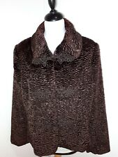 """Stylish ASTRAKAN steampunk, gothic,evening coat  in """"red wine"""" colour .uk 16 ***"""