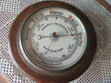 Rare Antique Weekly Telegraph Marine Aneroid Barometer - Made in England