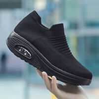 Womens Air Cushion Casual Sneakers Athletic Running Comfort Non-slip Shoes Gym