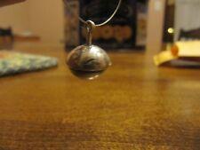 HAND MADE STERLING SILVER MERCURY DIME ACORN OAK TREE CHARM/ PENDANT 3D NICE!