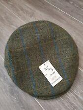 Tweed Teflon Coated Cap -  Green/Multi UK M,  7,  57 BNWT