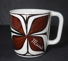 VINTAGE HAWAII POHAKU KILN POTTERY COFFEE MUG CUP MAUI HAWAIIANA