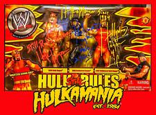 Wwe hulk hogan signed 3 face figure
