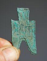 CHINA.Warring States. Pointed Foot Spades money.350-250 BC.Original.RARE.