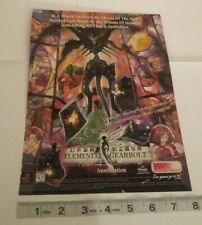 Elemental gearbolt ps1 Video game PRINT AD ADVERTISEMENT PAGE Vintage Rare