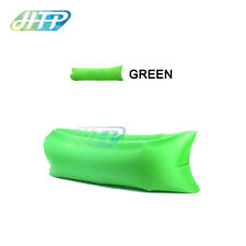 Green Inflatable Lazy Air Bag Sofa Lounge Sleeping bag Camping Bed Outdoor Beach