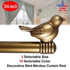 3/4-inch Cute Decorative Bird Adjustable Window Treatment Curtain Single Rod Set