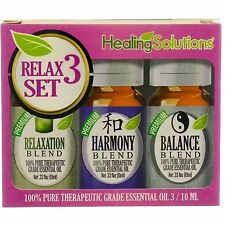 Healing Solutions Therapeutic Essential Oil Set, Relax 3 Set, 0.33 oz, 3 Ct