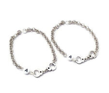 2 Partners In Crime Bracelets Personalised Bracelet Best Friends Set Handcuffs