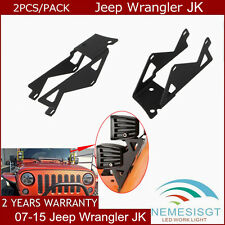 2pcs Upper Jeep Wrangler 07-15 JK A-Pillar Bracket for Dual LED Work light