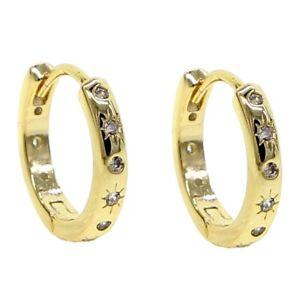 """Damen Creole """"Shiningstar"""" 18k Gold vergoldet 17 mm gelbgold  DJADEE O5596DS"""