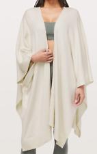 New lululemon Women's Free To Coast Wrap Shawl Scarf Heathered Dove Grey - Nwt