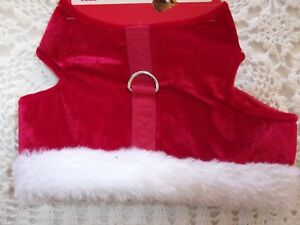 Red Velvet  Dog Harness S New Simply Dog Holiday choke-free costume Christmas