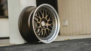 18 Inch ESR SR01 Mate Bronze Deep Dish Wheels 18x10.5 5x114.3 +22 Rims Set 4