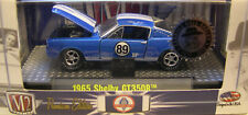 BLUE 1965 FORD SHELBY GT350R MUSTANG M2 MACHINES 1:64 SCALE DIECAST METAL CAR