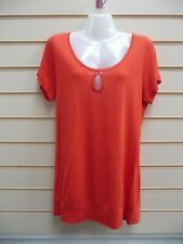 Kaleidoscope Orange Top Size 10 Sequin and Bead Butterfly Detail  BNWT   G028