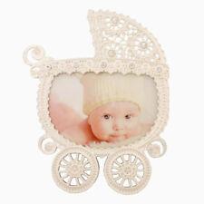 Silver Diamante Baby Girl Boy Nanny Pram Buggy Photo Picture Frame Newborn