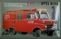 Opel Blitz Sapeurs-Pompiers Panneau de Tôle Métal Étain Signer 20 X 30 CM
