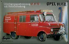 Opel Blitz Feuerwehr Blechschild Schild Blech Metall Metal Tin Sign 20 x 30 cm