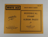 """White Ace Israel Supplement """"IS-35"""" 1984 Historical Stamp Album Pages Singles"""