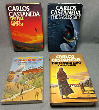 CARLOS CASTANEDA 4 BOOK LOT 3 1ST PRINTING HB THE SECOND RING OF POWER AND MORE