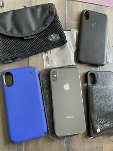 Apple iPhone X -256 -Space Gray (Unlocked) A1901 (GSM) GREAT CONDITION - Xtras