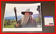 🔥 IAN MCKELLEN SIGNED 8.5x11 PICTURE GANDALF LORD OF THE RINGS 8X10 PSA JSA