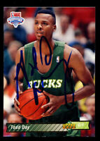 Todd Day #20 signed autograph auto 1992-93 Upper Deck Basketball Trading Card