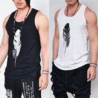 Men's Sleeveless Muscle Vest Tank Tops Gym Bodybuilding Fitness Sport T-Shirt