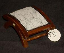 Miniature Cattle Baron Ottoman 1:12 Western #5474 Living Room Cowboy Ranch Texas
