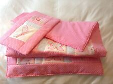 Handmade patchwork quilt and pillow set, girls bedroom, gift