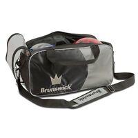 Brunswick Crown Black/Silver 2 Ball Tote Bowling Bag