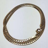 Schlichtes Vintage Silber Collier, vergoldet massiv 925 Silber punziert F.Binder