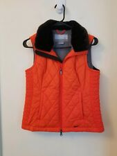 Nike Orange Puffer Vest With Faux Fur Collar  H24