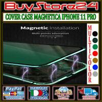 COVER CUSTODIA CASE MAGNETICA ALLUMINIO E VETRO PROTEZIONE TOTALE IPHONE 11 PRO