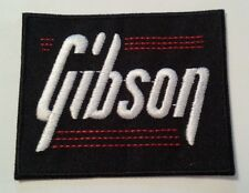 """Gibson Guitar Patch Embroidered Applique~@ 3"""" x 2 3/8""""~Iron Sew On~Ships FREE"""