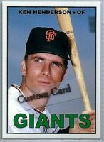 KEN HENDERSON SAN FRANCISCO GIANTS 1967 STYLE CUSTOM MADE BASEBALL CARD BLANK