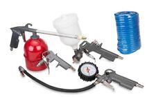 5Pc Piece Compressor Air Accessory Tool Kit Gun Hose Gravity Spray FREE POST UK
