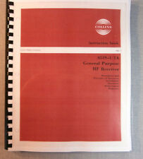 Collins 65S-1/1A Instruction Manual - Premium Card Stock & Protective Covers!