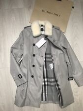 BNWT Absolutely gorgeous silver grey BURBERRY coat 10 years RRP £795 100%Genuine