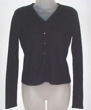 Women's small (4/6) black ribbed v-neck acrylic long sleeve sweater (Kathy Lee)