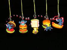 Takara Tomy Disney Lilo & Stitch figure Hamburge strap gashapon (full set 5 Pcs)