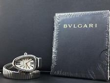 Bvlgari Serpenti 35mm 1 Row Steel Diamond Bezel Silver Dial Bulgari Ref.SP35S