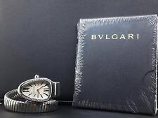 Bvlgari Serpenti 35mm 1 Row Steel Diamond Bezel Silver Dial Bulgari Ref.SP35S
