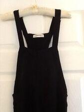 zara black dungaree jumpsuit wide leg size S