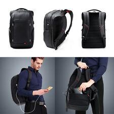 "Men 15.6"" Laptop Backpack Anti-theft Travel Case Business Bag USB Port Charging"