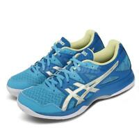 Asics Gel-Task 2 Blue Silver Yellow Womens Volleyball Badminton 1072A038-401