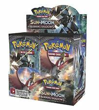 Pokemon Sun and Moon Burning Shadows Booster Packs Card Game - 8x BOOSTER PACKS